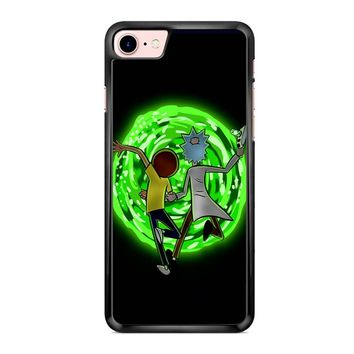 Rick And Morty Portal 2 iPhone 7 Case