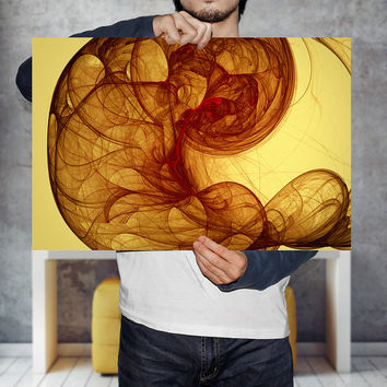 Abstract Energy Baby Art Print - Psychedelic Golden Energy Wave Poster -Fractal Art, Digital Download | Printable Baby Wall Art