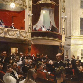 An Evening at the Royal Theatre by Paul Gustav Fischer - Recent Acquisitions | M.S. Rau Antiques