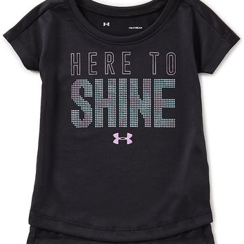 Under Armour Baby Girls 12-24 Months Here To Shine Short-Sleeve Tee | Dillards