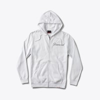 Caddy Diamond Zip Hood in White
