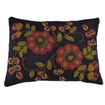 Homespice Late Summer Hooked Rectangle Pillow