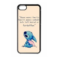 Lilo and Stitch Black Hard Case for IPhone 5c