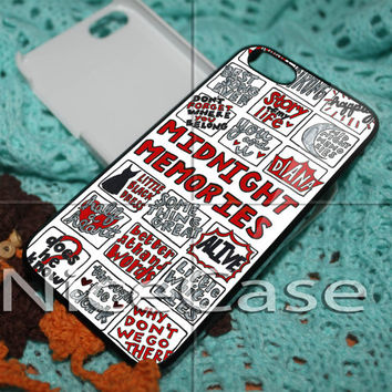 Midnight Memories One Direction Collage for iPhone 4 / 4S / 5 / 5c / 5s Case, Samsung Galaxy S3 / S4 Case Cover