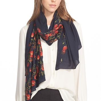 Women's Ted Baker London 'Cherry Split' Scarf - Blue
