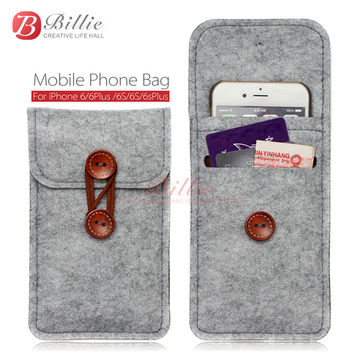 phone bag For iPhone 6s 7 Plus 5.5 inch case For iPhone 6 7 4.7 inch bags mobile phone bags cases Case Cover Wool Felt Wallet