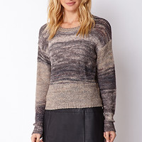 LOVE 21 Textured Knit Pullover Sweater Taupe Small