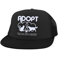 Adopt Dog & Cat Trucker Hat with Snapback