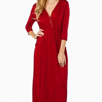 JURI MAXI DRESS IN BURGUNDY