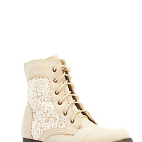 Embroidered Lace-Up Short Booties - Rainbow