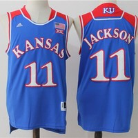 Best Sale Online NCAA University Basketball Jersey Kansas State Wildcats # 11 Josh Jackson Blue
