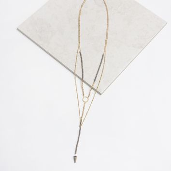 Signs Necklace in Grey