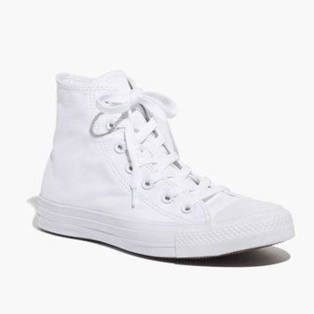 CREYUG7 Converse? Unisex Chuck Taylor All Star High-Top Sneakers in White Monochrome