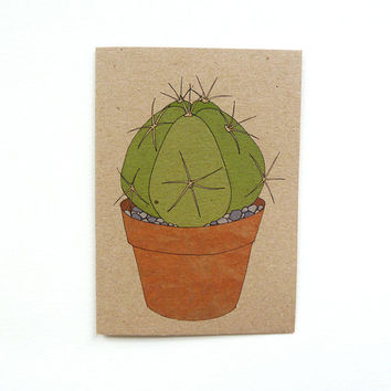 cactus card no.1 (100% recycled)