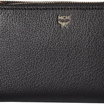 MCM Womens Milla Double Zip Wallet Crossbody