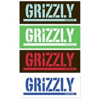 Grizzly Stamp MSA Sticker - Assorted Colors