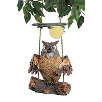 SheilaShrubs.com: Howie The Hoot Owl Swinging Sculpture EU42044 by Design Toscano: Hanging Decor