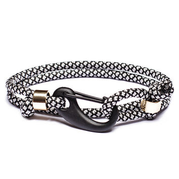 """Insignia"" Paracord Bracelet with Matte Black Clasp"