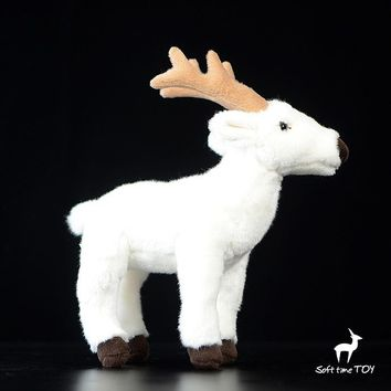 White Deer Stuffed Animal Plush Toy 9""
