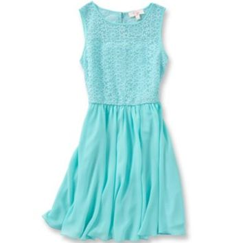 GB Girls Fan Fav 7-16 Floral Lace Swing Dress | Dillards.com
