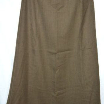 Talbots Size 8 Skirt Lined Stretch Wool Blend Brown