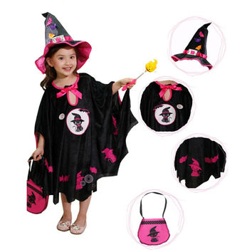 Halloween Costumes For Kids witch Cape Cloak Girl  Children's Halloween Costumes