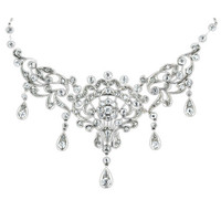 Antique Diamond Bib Style Necklace
