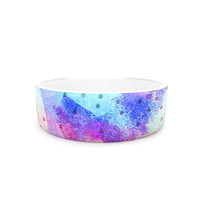 "Iris Lehnhardt ""Summer Pastels"" Multicolor Painting Pet Bowl"