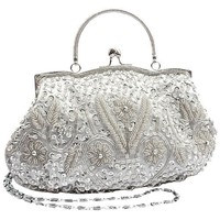 MG Collection Antique Beaded Evening Clutch