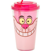 Disney Alice In Wonderland Cheshire Cat Flip Straw Acrylic Travel Cup