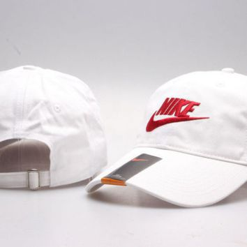 Red Nike LOGO Authentic Embroidered Baseball Caps Hat