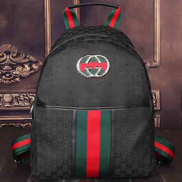 DCCKOB6D Gucci Women Leather Bookbag Backpack Handbag