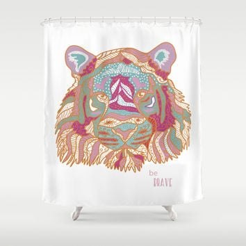 BE BRAVE Shower Curtain by Nika