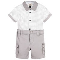 Armani Baby Boys Dressy Grey Set