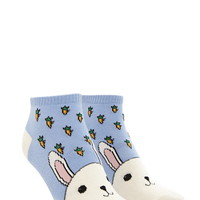 Rabbit Graphic Ankle Socks