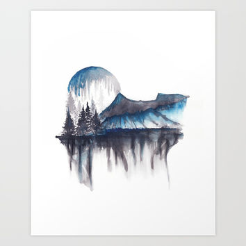 Abstract nature Art Print by Marco Gonzalez