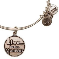 Alex and Ani Live In The Moment Expandable Wire Bangle Rafaelian Silver