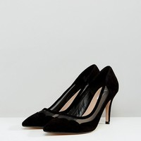 Dune London Suede Scallop Edge Heeled Shoes at asos.com