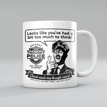 Thought Police Retro Mug