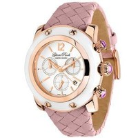 Glam Rock Women's GR10169 Miami Collection Pink/Rose Leather Watch