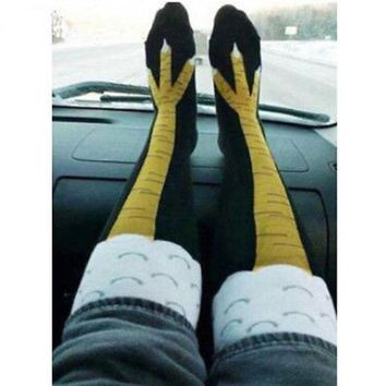 CREYYN6 Creative Women Men Socks New Arriving Funny 3D Chicken Socks Cartoon Animals