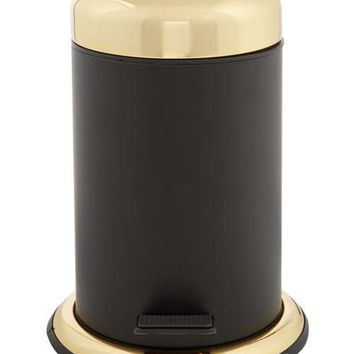 Biba Boudoir Black And Gold Waste Bin - House of Fraser