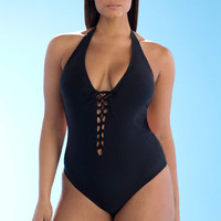 Ashley Graham x Swimsuits For All Karate Swimsuit