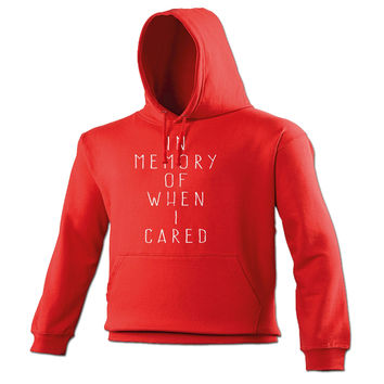 123t USA In Memory Of When I Cared Funny Hoodie