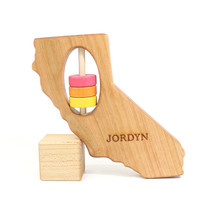 California State Wooden Baby Rattle™