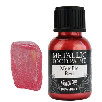 Red Metallic Edible Paint RD