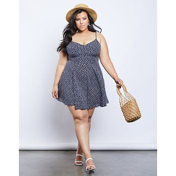 Plus Size Spring and Summer Floral Dress
