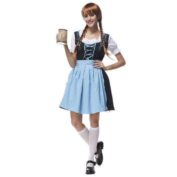 Bavaria Costume Beer Festival Waitress Embroidered Dress   M