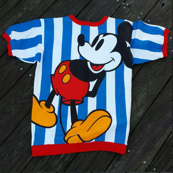 Vintage 80s 90s MICKEY & CO by J.G. Hook Multicolor Pop Art Mickey Mouse Heavy Weight Tee - SZ M