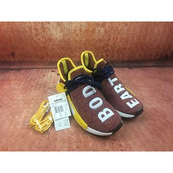 Adidas Boost Nmd Human Race Iridescence Women Men Fashion Trending Running Sneaker